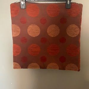 Two Polka Dots Terracotta Pillow Case Covers